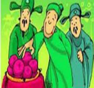 Truyejn cười Trạng Quỳnh:chúa Trịnh vui vẻ ăn hoa trái do Quỳnh mang tới